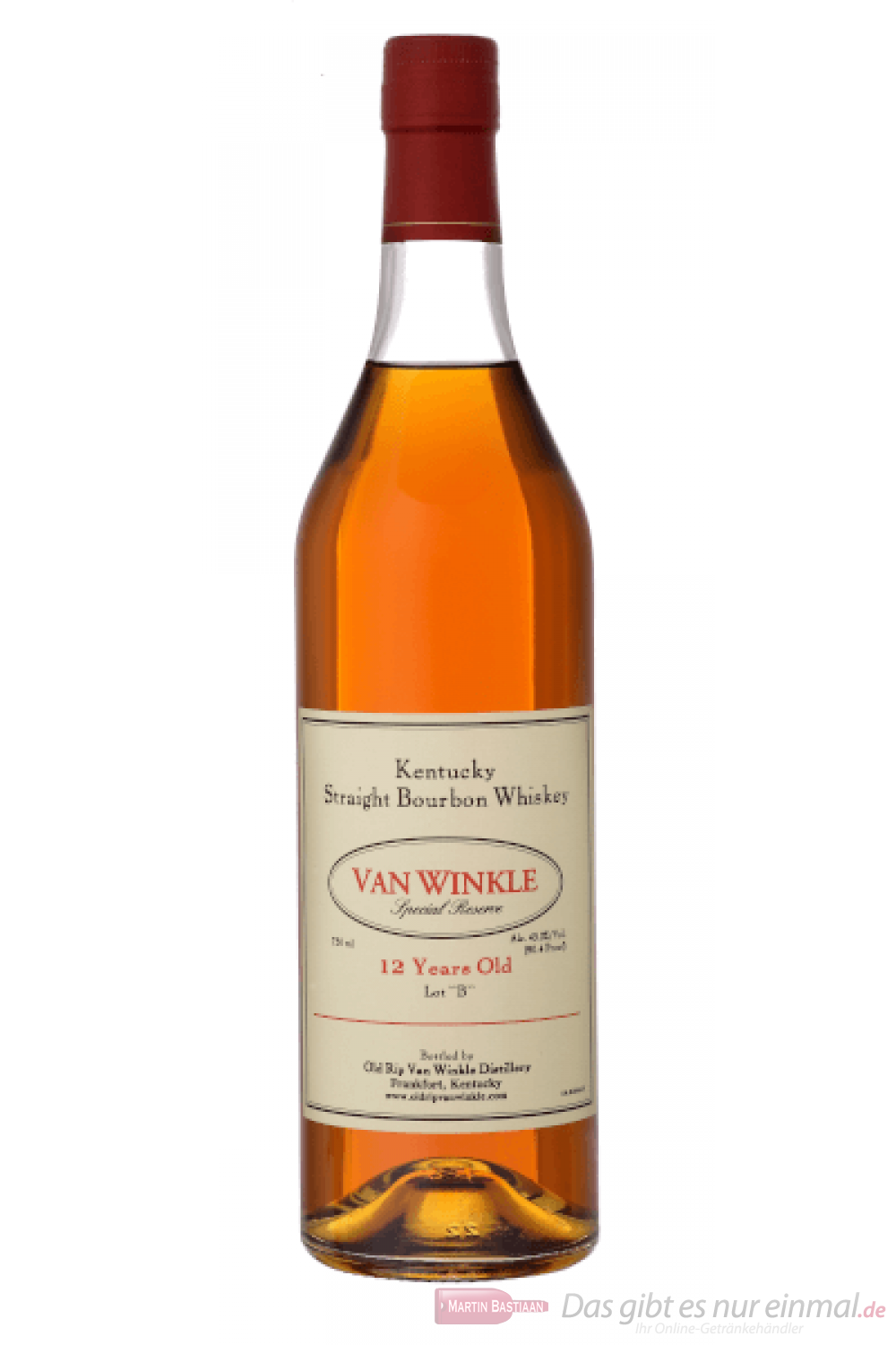 Old Rip van Winkle 12 Years Special Reserve Bourbon Whiskey 0,7l