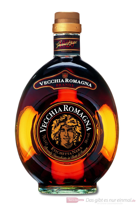 Vecchia Romagna Weinbrand Brandy 38 % 0,7 l Flasche