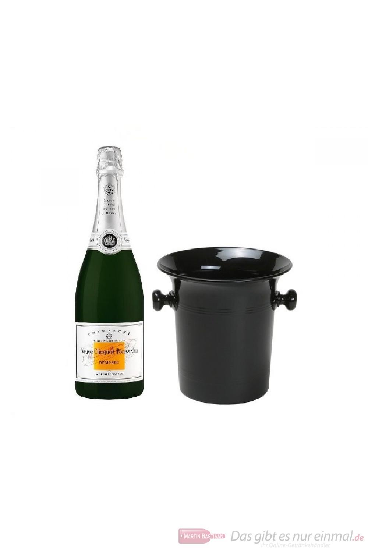 Veuve Clicquot Champagner Demi Sec imChampagner Kübel 0,75 l.