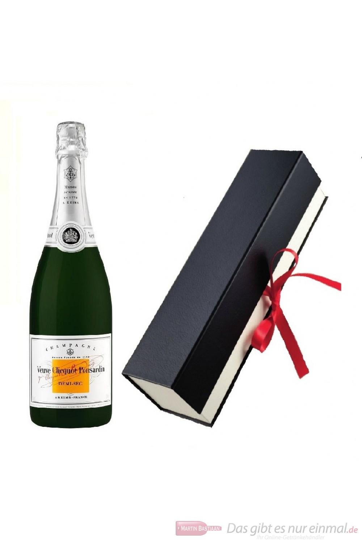 Veuve Clicquot Champagner Demi Sec in hochwertiger Geschenkfaltschachtel