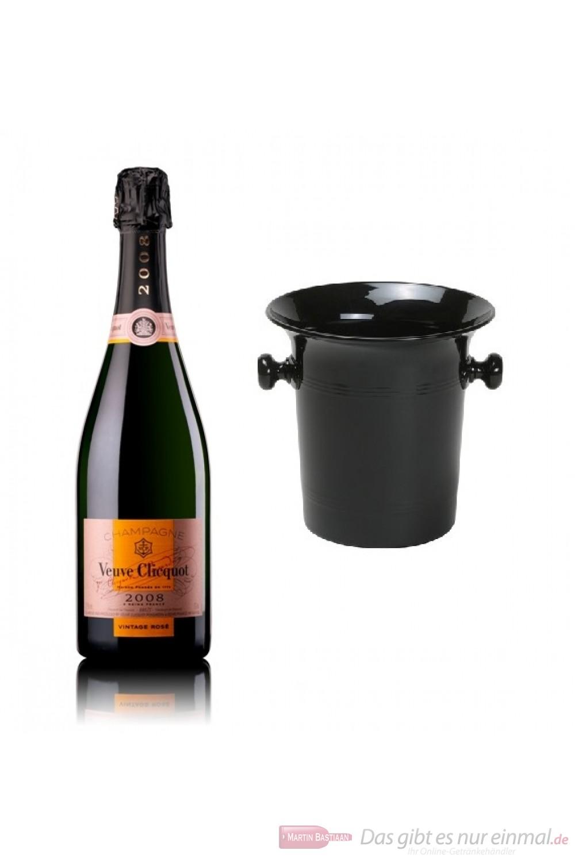 Veuve Clicquot Champagner Rosé Vintage 2008 im Kübel