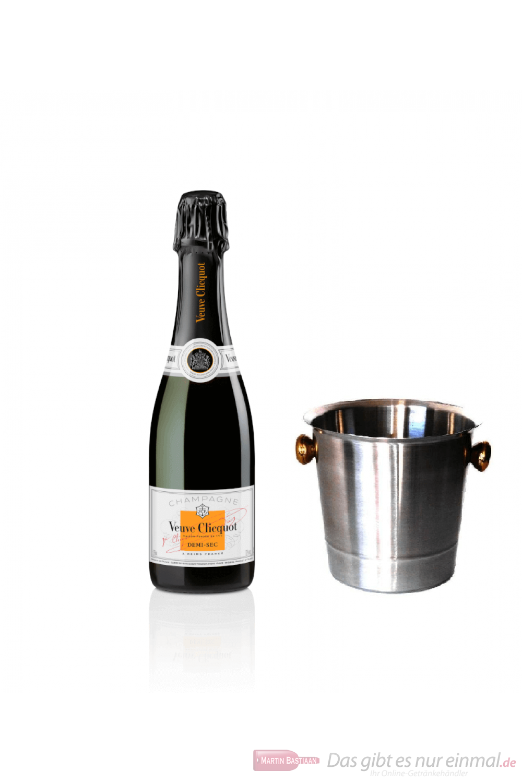 Veuve Clicquot Champagner Demi Sec im Kühler 0,75 l