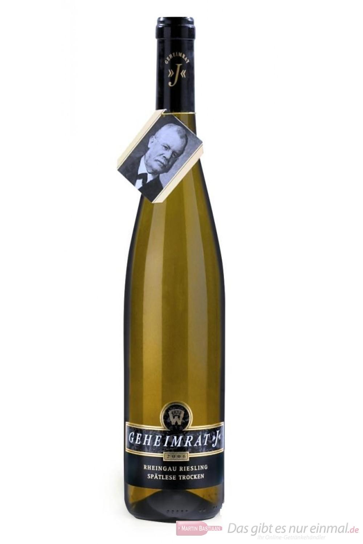 Wegler Gutshaus Oestrich Geheimrat J Riesling Spätlese trocken Weißwein 2007 12,5% 0,75l Flasche