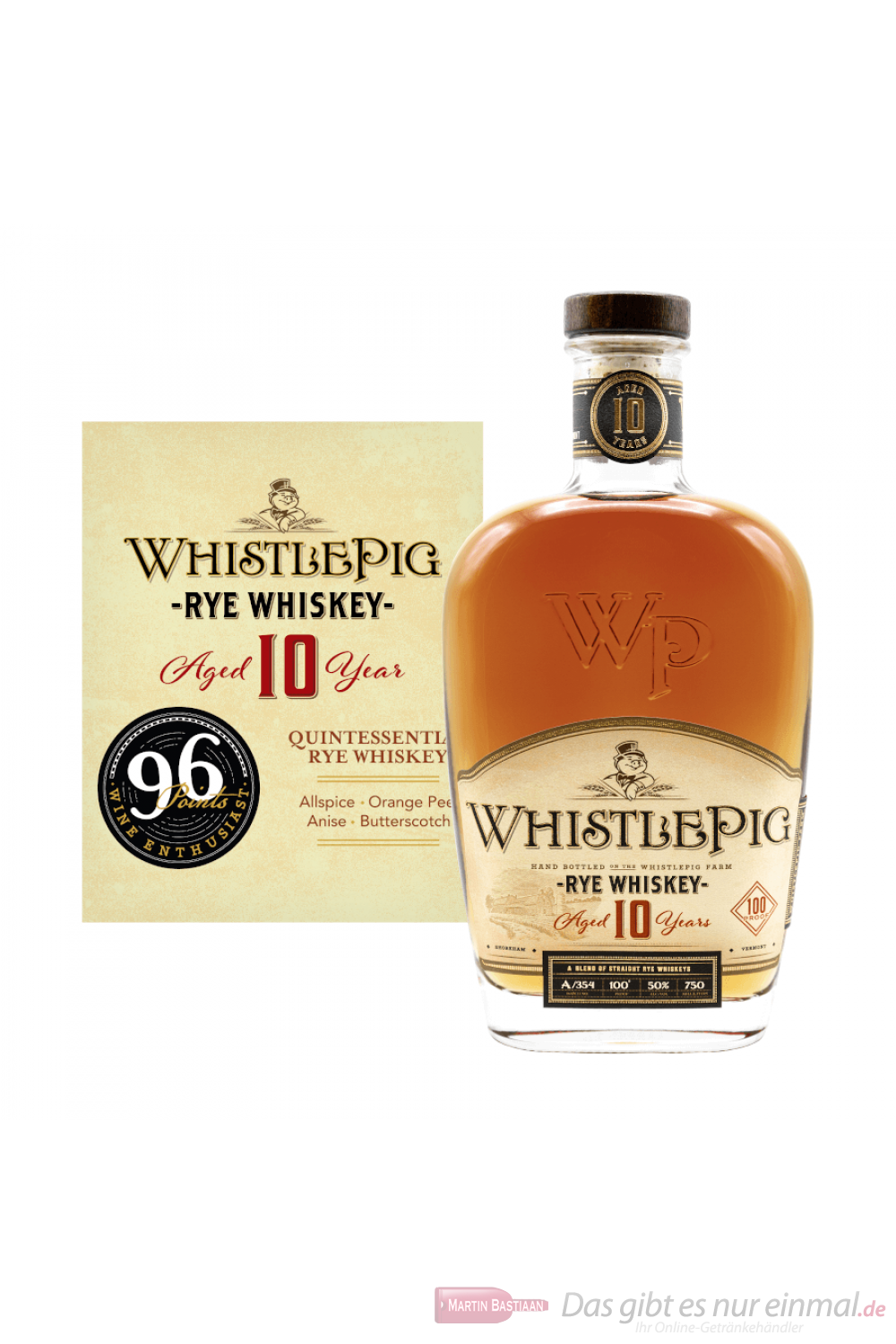 Whistlepig 10 Years Small Batch Rye Whiskey 0,7l