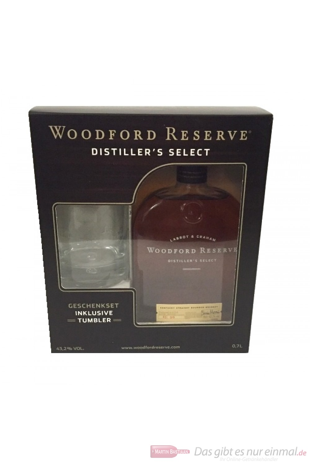 Woodford Reserve + Glas