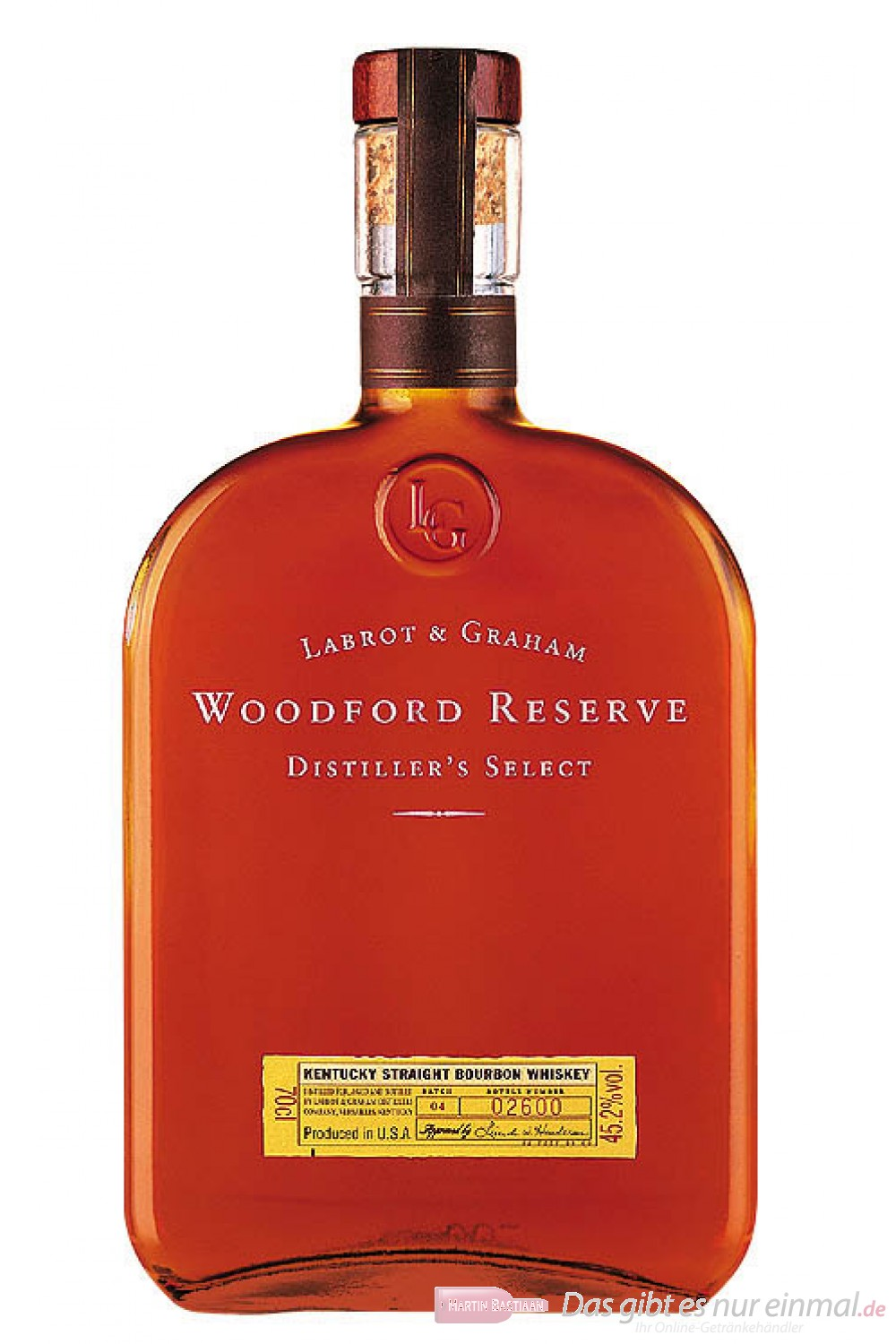 Woodford Reserve Bourbon Whisky 43,2% 0,7l Flasche