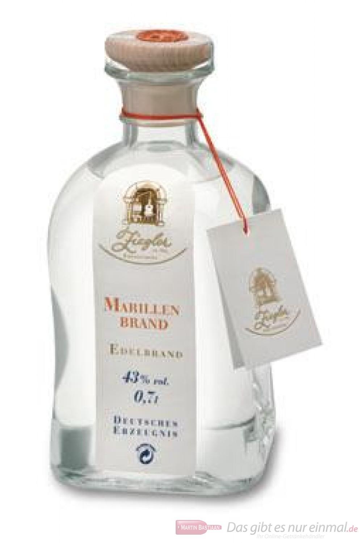 Ziegler Marillenbrand Obstbrand Aprikosenbrand 43 % 0,7 l Flasche