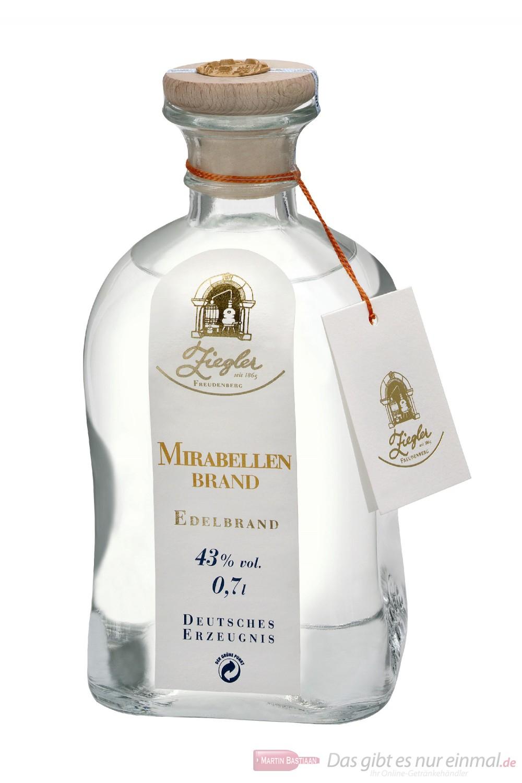 Ziegler Mirabellenbrand Obstbrand 43 % 0,7l Flasche