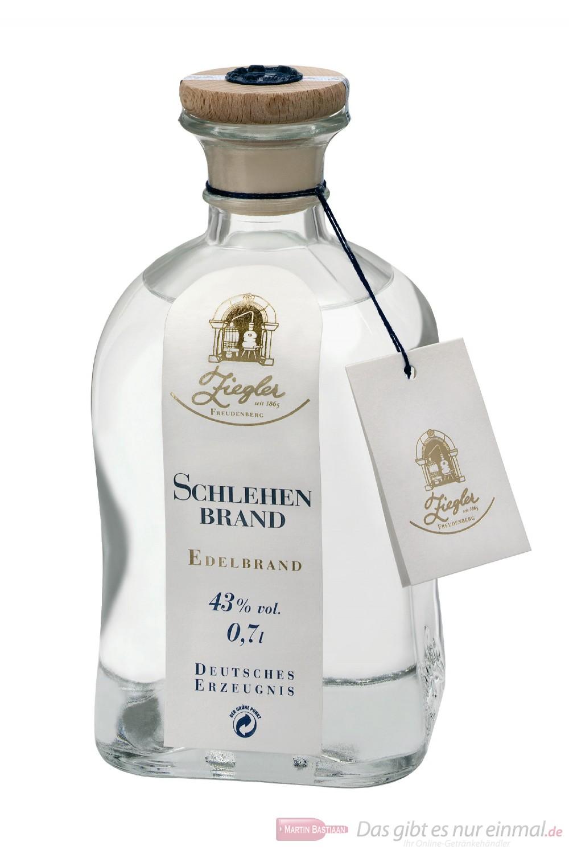 Ziegler Obstbrand Schlehenbrand Obstler 43 % 0,7l Flasche