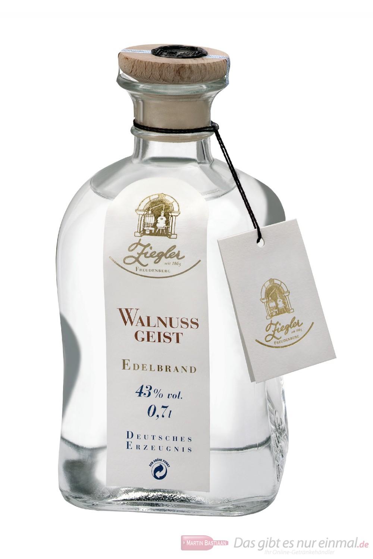 Ziegler Obstbrand Walnussgeist 43 % 0,7l Flasche