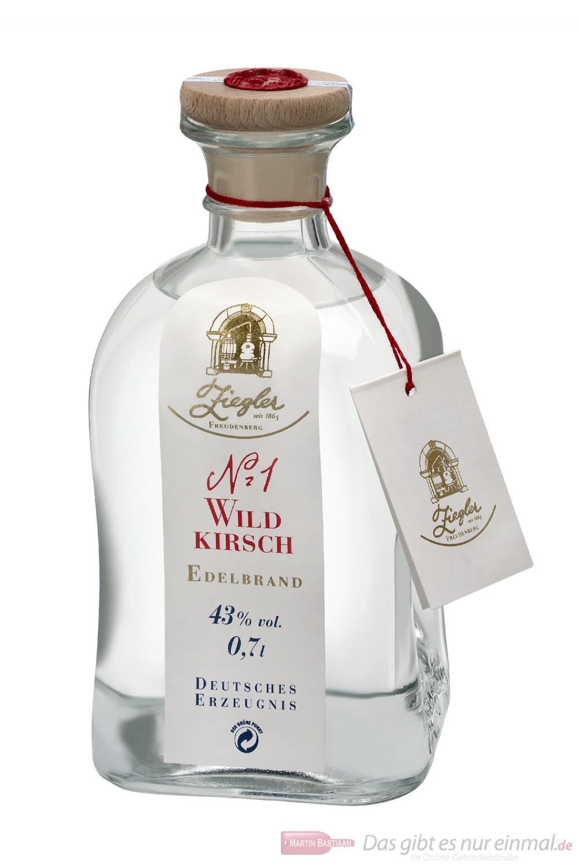 Ziegler Obstbrand Wildkirsch Nr.1 43 % Obstler 0,7 l Flasche