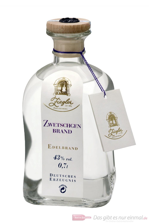 Ziegler Obstbrand Zwetschkenbrand 43 % 0,7l Flasche