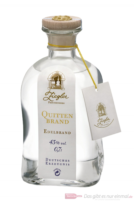 Ziegler Quittenbrand Obstbrand 43 % 0,7 l Flasche