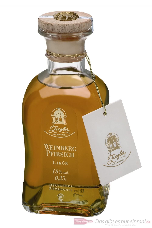 Ziegler Weinbergpfirsich Likör 18 % 0,35 l Flasche