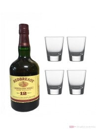 Redbreast 12 Jahre Single Pot Still Irish Whiskey 0,7l + 4 Tumbler