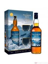 Talisker Skye mit Gläsern Single Malt Scotch Whisky 0,7l Flasche