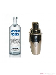 Absolut Vodka 1,0l mit Cocktailshaker