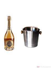 Alfred Gratien Cuvée Paradis Rosé Champagner im Champagner Kühler Aluminium poliert 12% 0,75l Flasche