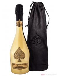 Armand de Brignac Champagner Brut Gold in Samtbeutel 0,75l