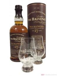 Balvenie Doublewood 17 Jahre + 2 Gläser Whisky 0,7l