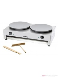 Bartscher Elektro- Crêpe- Backgerät 2 getrennt schaltbare Crêpe-Platte