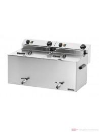 Bartscher Elektro-Doppel-Fritteuse Professional II mit Fettablasshahn