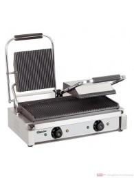 Bartscher Elektro Doppel Kontaktgrill Grillplatten gerillt A150671