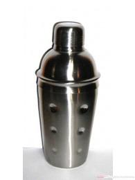 Cocktailshaker Edelstahl hochglanzpoliert 3-teilig mit Sieb und Deckel 500ml