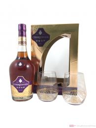 Courvoisier Cognac VSOP mit 2 Tumbler