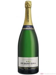 De Saint Gall Champagner Premier Cru Brut Blanc de Blanc 12 % 1,5 l. Magnum Flasche