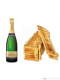 De Saint Gall Champagner Premier Cru Brut Millesime 2004 Blanc de Blanc in Holzkiste geflammt 12% 0,75l Flasche