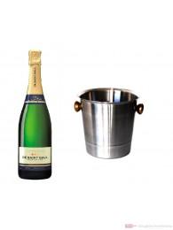 De Saint Gall Champagner Brut Tradition im Champagner Kühler 0,75l