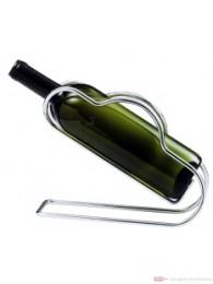Contacto Dekantierständer Weinflaschenhalter verchromt hochglänzend mit Trageschlaufen schwere Qualität