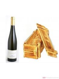 Dreissigacker Bechtheimer Hasensprung Riesling weißwein Qba trocken 2008 12,5% 0,75l Flasche in Holzkiste geflammt