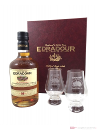 Edradour 10 Years mit Gläsern Single Malt Scotch Whisky 0,7l