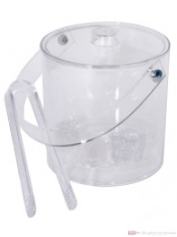Contacto Eiseimer 4-teilig aus Acrylglas mit Deckel und Zange Innenbehälter herausnehmbar 1,8l
