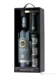 Beluga Gold Line mit 3 Gläsern Vodka0,7l