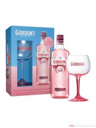Gordon's Premium Pink Gin im Geschenkset mit Copa Glas