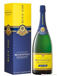 Heidsieck Monopole Blue Top Brut Champagner in Geschenkverpackung 1,5l
