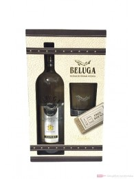 Beluga Export Noble Russian Vodka in GP mit 1 Rocking Glas 0,7l