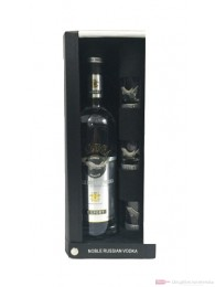 Beluga Noble Russian Vodka in Ledertasche mit 3 Gläsern 0,7l