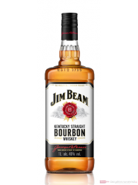 Jim Beam Kentucky Straight Bourbon Whiskey 40% 1,0 l. Flasche