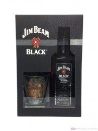 Jim Beam Black in GP mit Glas Kentucky Straight Bourbon Whiskey 0,7l
