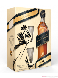 Johnnie Walker Black Label in GP mit Glas Blended Scotch Whisky 0,7l