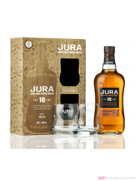 Isle of Jura 10 years mit Gläsern GP Single Malt Scotch Whisky 0,7l