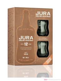 Isle of Jura 12 Years mit Gläsern Single Malt Scotch Whisky 0,7l