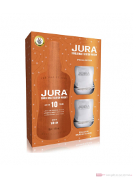 Isle of Jura 10 years mit Gläsern Single Malt Scotch Whisky 0,7l
