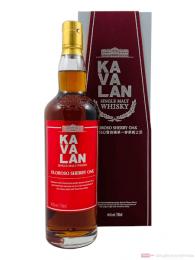 Kavalan Oloroso Sherry Oak Single Malt Whisky 0,7l