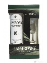 Laphroaig 10 Jahre mit Glas Single Malt Scotch Whisky 0,7l