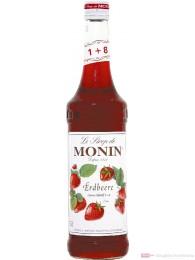 Le Sirop de Monin Erdbeer Sirup 1:8 0,7l Flasche